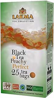24 Pack of Lakma Fruity Tea Collection Peachy Perfect Black Tea Peach & Mango - 25 Tea Bags (GMO Free, Gluten Free, Dairy ...
