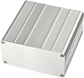 """Eightwood Aluminum Enclosure Electronic Project Box Case for PCB Instrument Amplifier DIY - 3.94""""x3.94""""x1.97""""(LWH)"""
