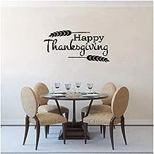 Arte 68CM * 33CM Feliz Día de Acción de Gracias Decoración para el hogar PVC Arte Etiqueta de la pared Letras Letras Cita