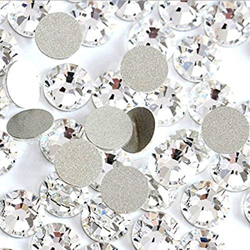 Jollin Glue Fix Crystal Flatback Rhinestones Glass Diamantes Gems for Crafts...