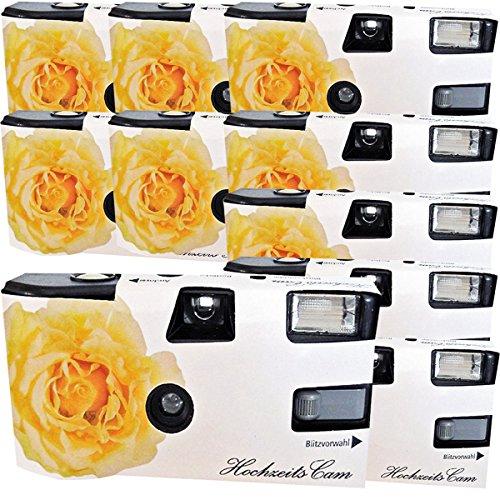 10 x PHOTO PORST appareils Photo jetables crème/Rose pour 27 Photos avec Flash