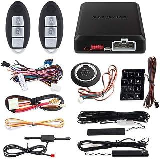 EASYGUARD EC002-NI Smart Key car Alarm System Remote Engine Start Push Button Start Touch Password Entry Universal Version...