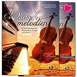 Deseos melodías–Carpeta con piano–Violonchelo y voz/Set con Bunter herzförmiger–Partituras vhr3427–9783864340185