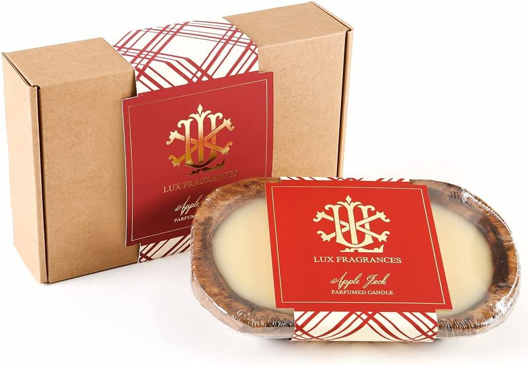 Lux Fragrances 3 Wick Wooden Dough Bowl Max 88% OFF 5 popular Be Gift Candle Boxed