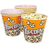 com-four® 8X Cubo de Palomitas de maíz - Cuenco de Palomitas de maíz con una Capacidad de 2,8 litros - Bol de Palomitas para la Cine en casa (08 Piezas)