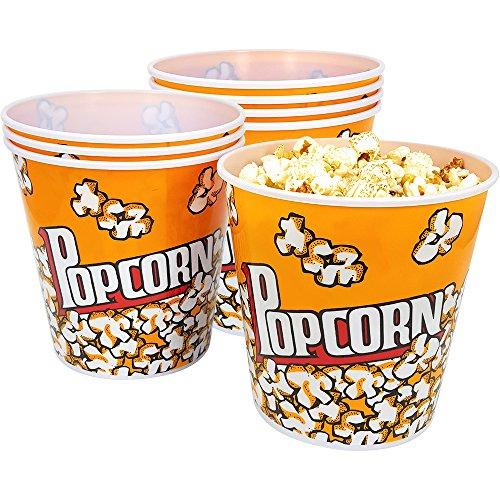 com-four 8X Cubo de Palomitas de maíz - Cuenco de Palomitas de maíz con una Capacidad de 2,8 litros - Bol de Palomitas para la Cine en casa (08 Piezas)