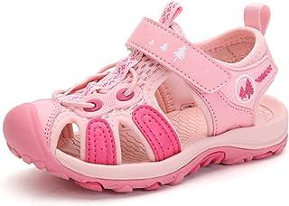صنادل للأولاد والبنات رياضية مغلقة من الأمام للأطفال المشي لمسافات طويلة في الهواء الطلق أحذية الشاطئ الصيف تنفس خفيفة الوزن