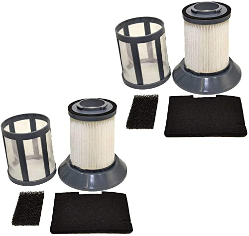 2-Pack HQRP Filter fits Dirt Devil Type F45 Filter Parts 2KQ0107000 Replacement