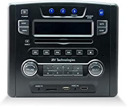 iRV Technology iRV34 AM/FM/CD/DVD/MP3/MP4 /USB/SD/HDMI/Digital2.1/Surround Sound/Bluetooth 3 Zones Wall Mount RV Radio Stereo