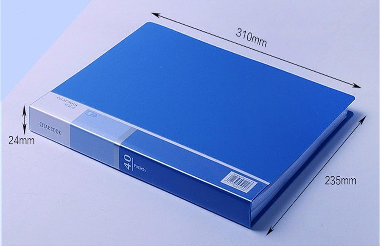 Kunststoff Multi-layer Ordner Informationen Broschüre A4 Noten     Student Bürobedarf Ordner (40 Seiten), blau B07BXQBVSR | Neue Sorten werden eingeführt  78eeec