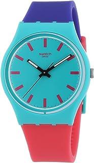 ساعة سواتش انالوج كوارتز مع حزام بلاستيكي – GG215، سوار متعدد الألوان، للجنسين