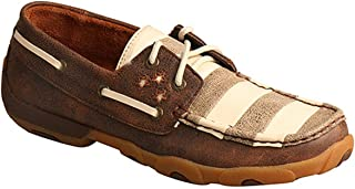 Women's Stars and Stripes Driving Moccasins Moc Toe