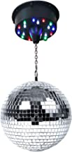 LED Disco Mirror Ball Kit with 8