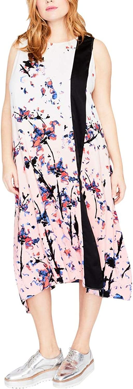 Rachel Roy Womens Panel Scarf Dress Casual Dress