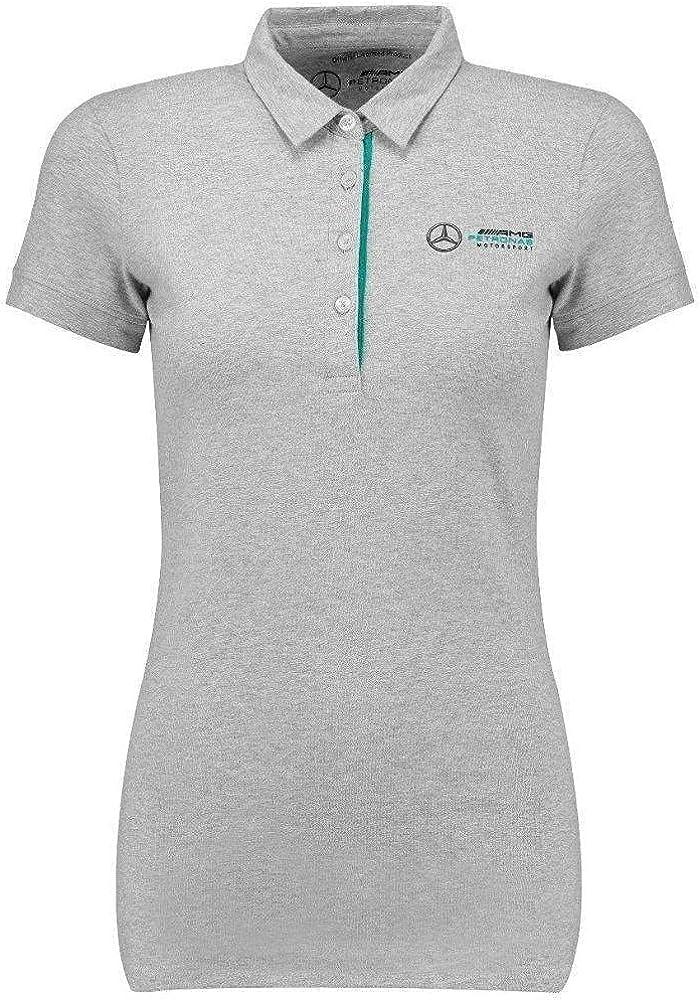 Mercedes Benz Petronas AMG Formula 1 Women's Gray Marl Classic Polo F1