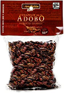 Chapulines al Adobo from Oaxaca (marinated grasshoppers) La Tradición, Mexican Gourmet Artisan Product, (1,7 Oz).