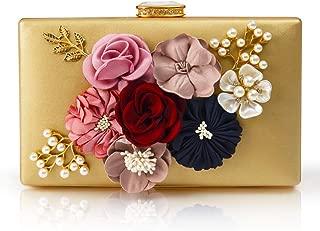 Flower Leather Evening Clutch Bag Women Floral Purse Handbag for Wedding Bride Prom Party
