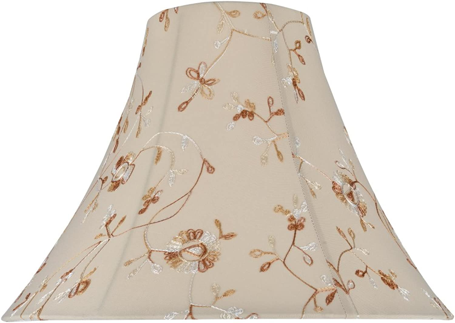 Aspen Creative 30082 Transitional Bell Shape Spider Construction Lamp Shade in Apricot, 16  wide (6  x 16  x 12 )