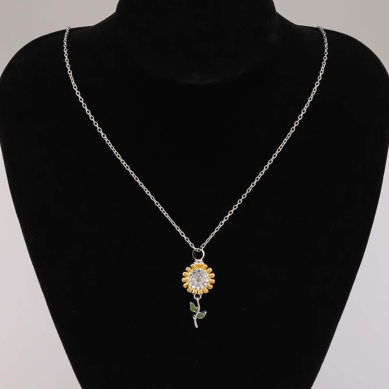 BAUNA Sunflower Ashes Necklace Cremation Urn Necklace for Ashes Cremation Hair Keepsake Memorial Pendant