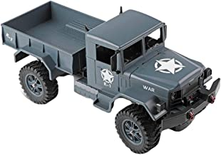 InKach RC Military Truck, 1/12 Scale 4WD 2.4Ghz Radio Controlled Off-Road Military Trucks for Boys Remote Control Army Cars Electric RTR Vehicles Toys