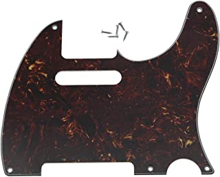 KAISH 5 Hole Vintage Tele Guitar Pickguard Scratch Plate fits USA/Mexican Fender Telecaster Vintage Tortoise