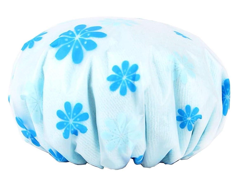 変形不要吹雪あQ太郎 新しい3つの1つのシャワーキャップ厚い防水シャワーキャップダブル速乾毛キャップオイルメンテナンスキャップ