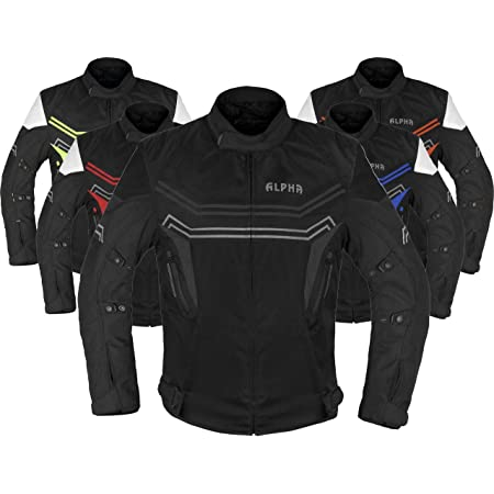 Signature Textiles/® Men Motorcycle Jacket Motorbike Protective Jacket Waterproof CE Armoured Protect Cordura Biker Multi Functional Black Hi Viz XXX Large