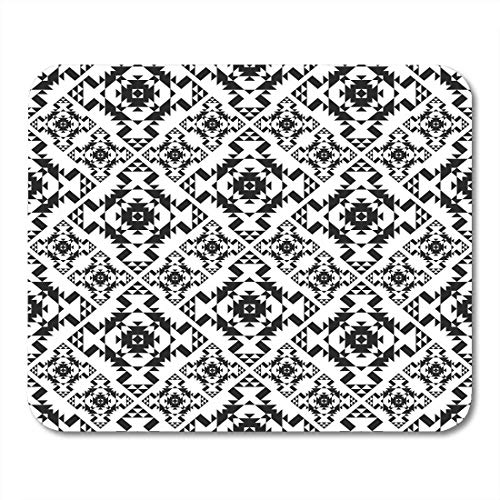AOHOT Mauspads Aztec American Indian Tribal Plaid Navajo Geo Black Culture Dot Dotted Mouse pad 9.5