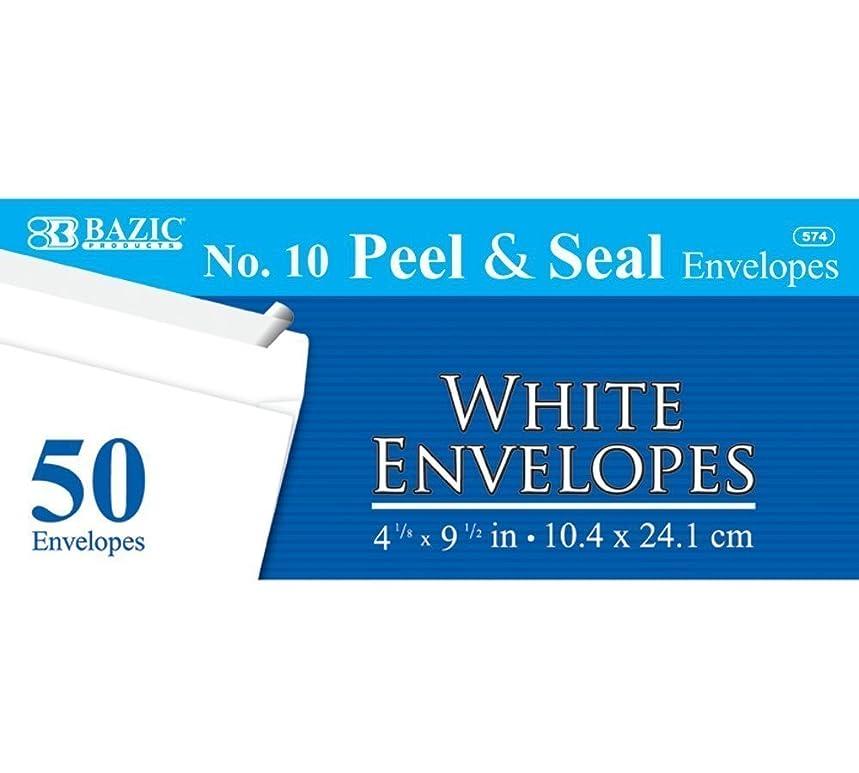 3 Pk, BAZIC White Self-Seal Envelopes, No. 10-50 Ct.
