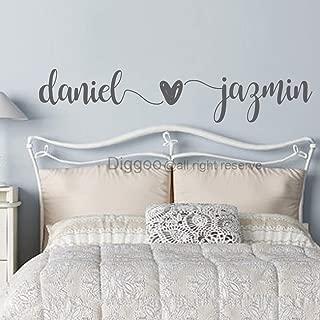 Custom Couple Names Wall Decal Husband Wife Names Decal Master Bedroom Wall Decor Wedding Gift Romantic Wall Art (10