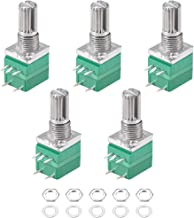 uxcell WH148 1K Ohm Variable Resistors Single Turn Rotary Carbon Film Taper Potentiometer W Knobs 20pcs