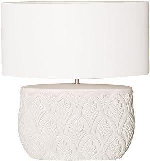Belssia Lámpara Tallada con Pantalla 60 W Blanco 53 x 27 cm