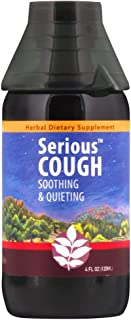WishGarden Herbs - Serious Cough, Organic Herbal Cough Suppressant Supplement, Soothes and Calms Common Throat and Bronchial Irritation (4 Ounce Jigger)