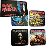 for-collectors-only Juego de 4Posavasos Iron Maiden Pack Coaster Cerveza Tapa Coasters Set Book of Souls