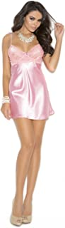 Women's Charmeuse Babydoll with Lace Bodice Underwire Cups