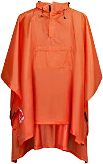 Terra Hiker レインポンチョ 防水レインコート ユニセックス 雨具 マジックテープ付き 収納袋付き (オレンジ色)