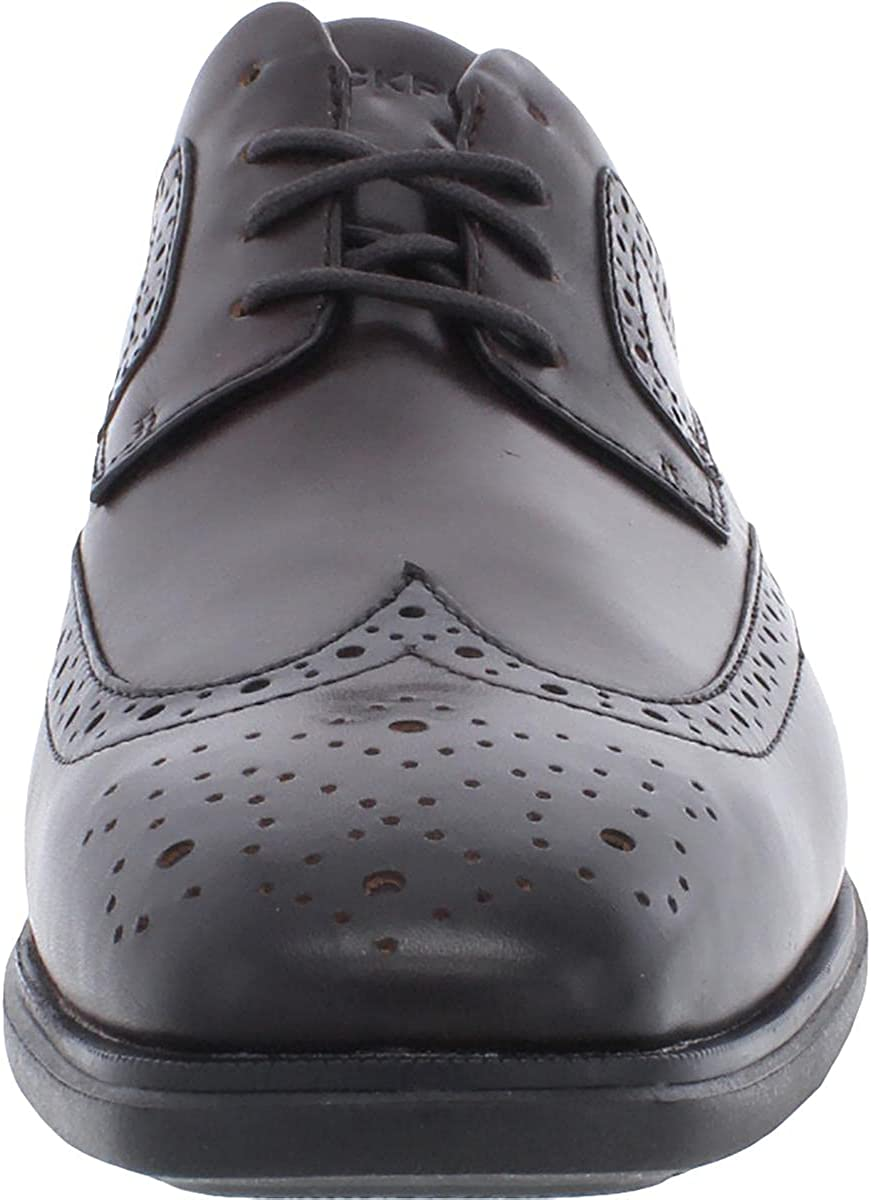 Rockport Mens Dressports Business 2 Wingtip Leather Oxfords Brown 8.5 Wide (E)