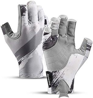 CSKJ Vingerloze vishandschoenen, roeihandschoenen, zonweringshandschoenen, UPF 50+ zonwering, microvezel-tech, beschermt a...