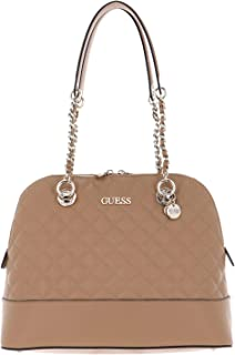 Guess Illy Dome Satchel Bag Beige
