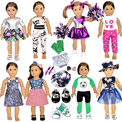 20 Pcs American Doll Clothes and...