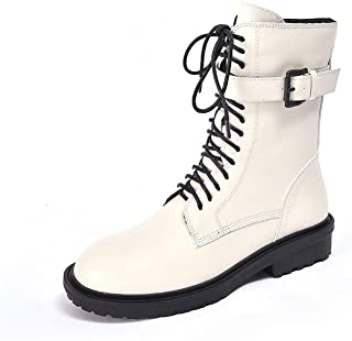 Retro Boots Women Warm Martin Boots Ankle Boots Plaush Cross Tied Botas with Fur