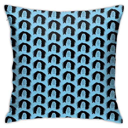 Hdadwy You Don 't Know Jack Almohada de Piso Funda de Almohada Cuadrada Throw Pillow Edredón Manta Cojín de sofá Cojín de Coche Decoración (45cmx45cm)