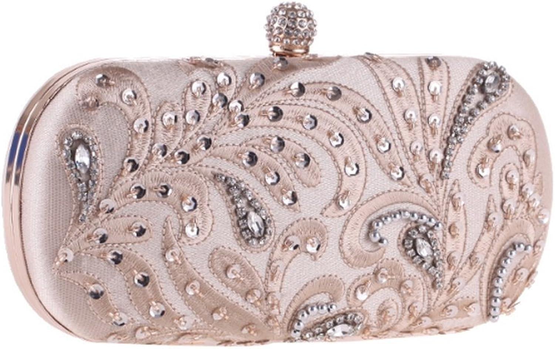 Zebuakuade Damen Abendtasche Basteltasche Basteltasche Basteltasche mit Perlen und Blaumen schwarz B01JBOQBLC  Für Ihre Wahl e03571