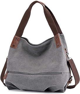 Women's Bag Canvas Shoulder Bag Convertible Ladies Messenger Bag Messenger Bag Casual Tote Bag Shopping Bag, Used for Scho...