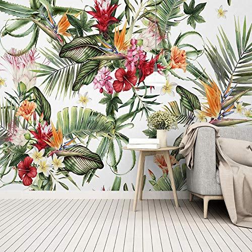 Fotobehang, 3D, modern, tropisch bos, vocht, plant, cactus, fotobehang, muurschildering, woonkamer 350cm (W) x 245cm (H)