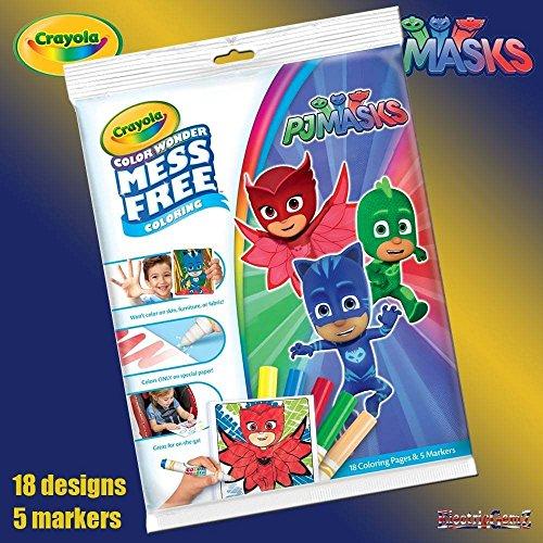 PJ Masks Crayola – Mess Free Colouring 18 Ausmalbilder + 5 Stifte