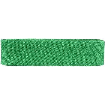Inastri - Cinta bies de algodón, 25/5/ 5 mm, Color Verde: Amazon ...