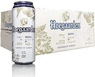 Hoegaarden White Beer Cans, 500 ml (Pack of 24)