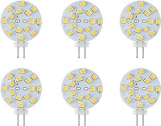 Makergroup 12V G4 LED Bulb 3W Bi-Pin LED Disc Light Bulb 20-30 Watt Equivalent Daylight White 6000K for Puck Lights in RV Trailers Campers Automotive Marine Landscape Lighting 6-Pack