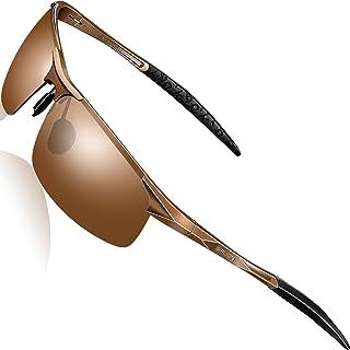 SIPLION Men's Driving Polarized Sport Sunglasses Al-Mg Metal Frame Ultra Light
